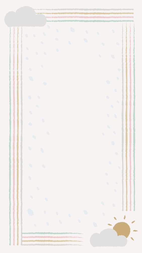 cute sun and cloud notepad mobile background