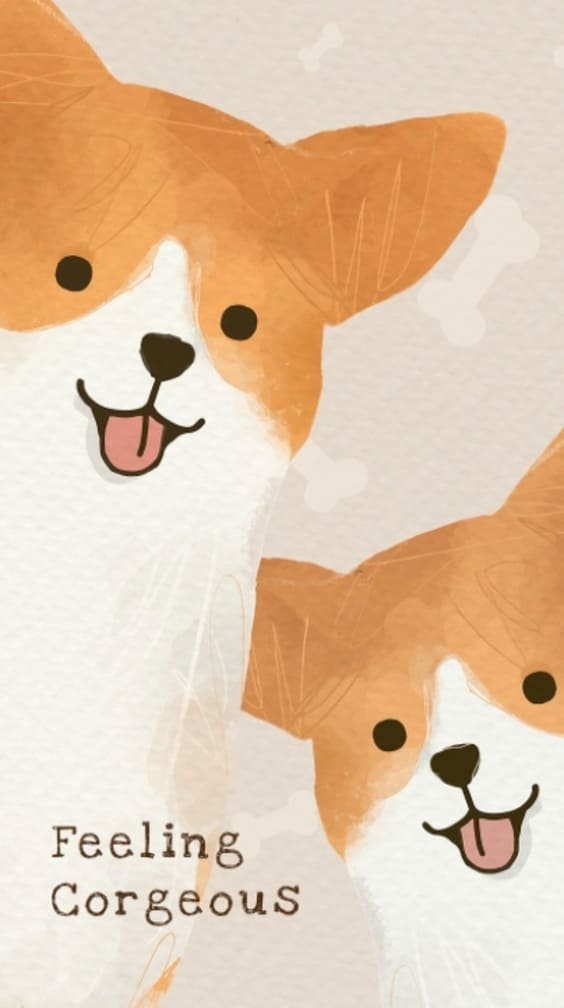 feeling gorgeous quote wallpaper with cute puppies