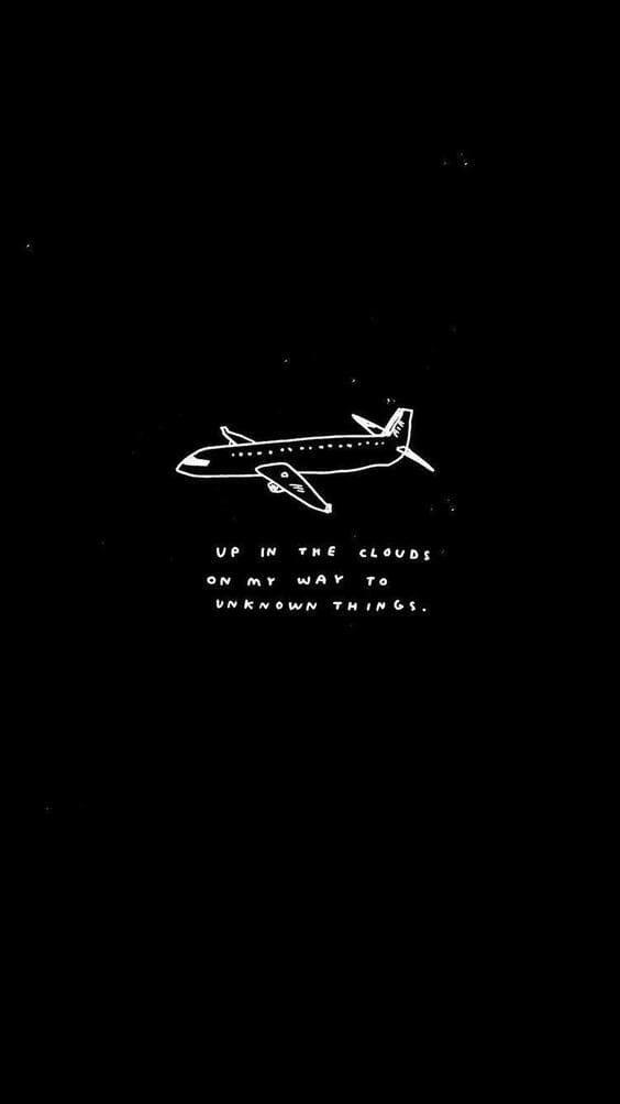 black quote wallpaper airplane background