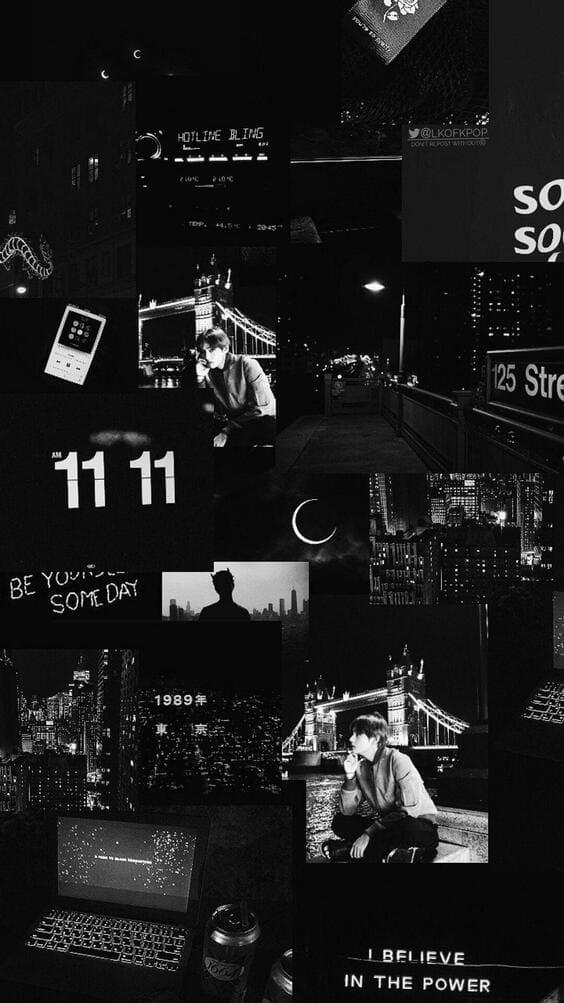 black collage dark wallpaper mobile wallpaper