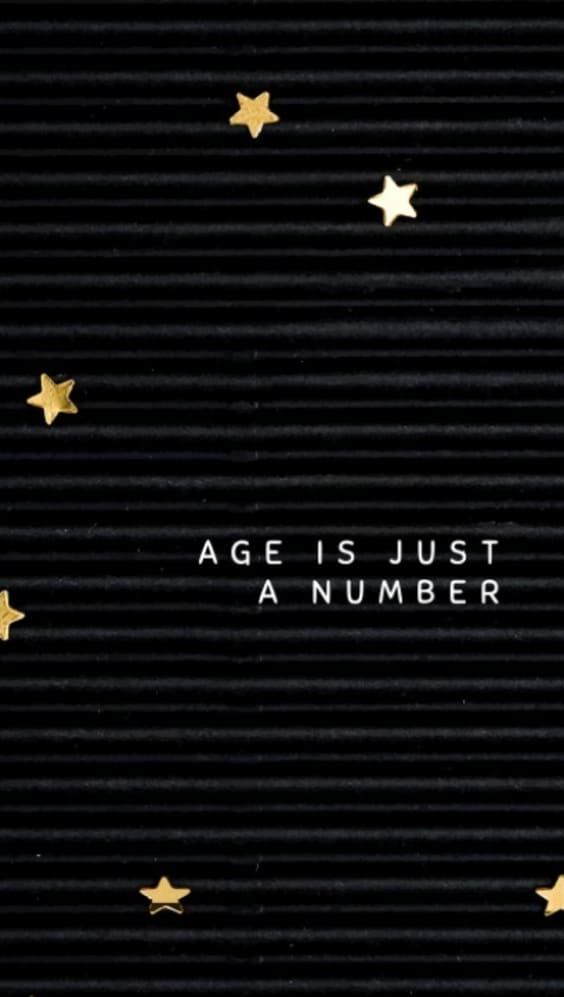 dark black wallpaper quote 'age is just a number'