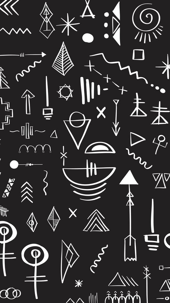 geometric style black wallpaper